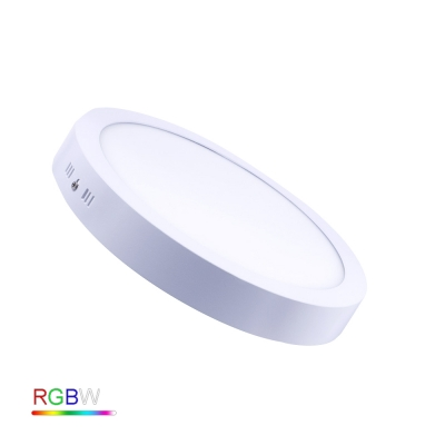 12W SURFACE ROUND RGBW LED PANEL LIGHT